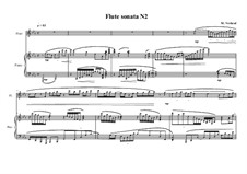 Sonata No.2 for Flute and Piano, MVWV 210: Sonata No.2 for Flute and Piano by Maurice Verheul