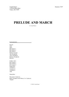 Prelude and March (concert band): Prelude and March (concert band) by Joseph Hasper