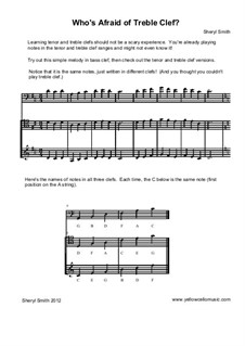 Who's Afraid of Treble Clef? A teaching aid for cellists: Who's Afraid of Treble Clef? A teaching aid for cellists by Yellow Cello Music