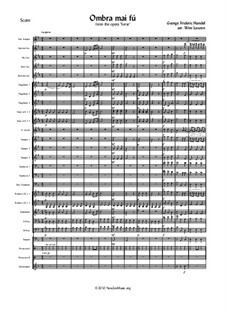 Ombra mai fu: For voice and fanfare band by Georg Friedrich Händel