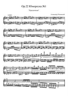 Humoreske Nr.1 'Festlich', Ор.22: Humoreske Nr.1 'Festlich' by Ksardas