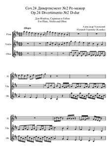 Divertimento Nr.2, Ор.24: Divertimento Nr.2 by Ksardas