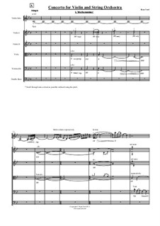 Concerto for Violin and String Orchestra: Teil I by Ryan Yard