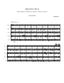 Quintet No.3: Quintet No.3 by Irminsul Harp