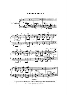 Nr.6 Wasserflut: Bearbeitung für Klavier by Franz Schubert