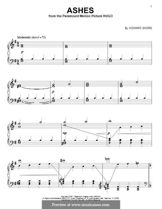 Ashes: Für Klavier by Howard Shore