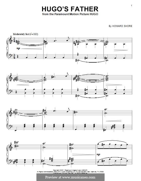 Hugo's Father: Für Klavier by Howard Shore