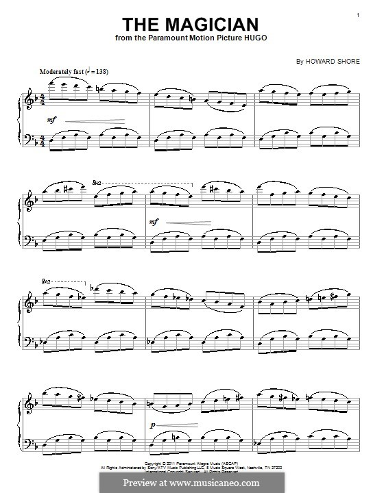 The Magician: Für Klavier by Howard Shore
