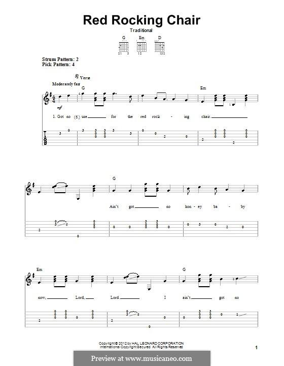Red Rocking Chair: Für Gitarre by folklore