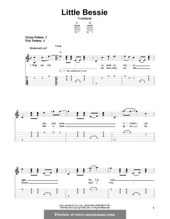 Little Bessie: Für Gitarre by folklore