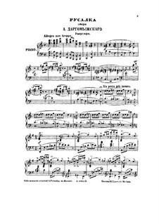 Mermaid: Klavierauszug by Alexander Sergeyevich Dargomyschski