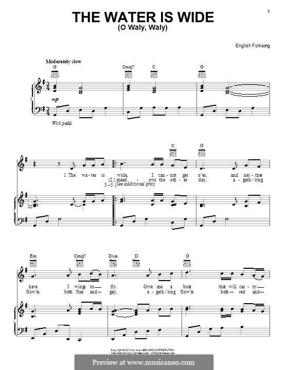 The Water is Wide: Für Stimme und Klavier (oder Gitarre) by folklore