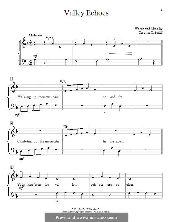 Valley Echoes: Für Klavier by Carolyn C. Setliff