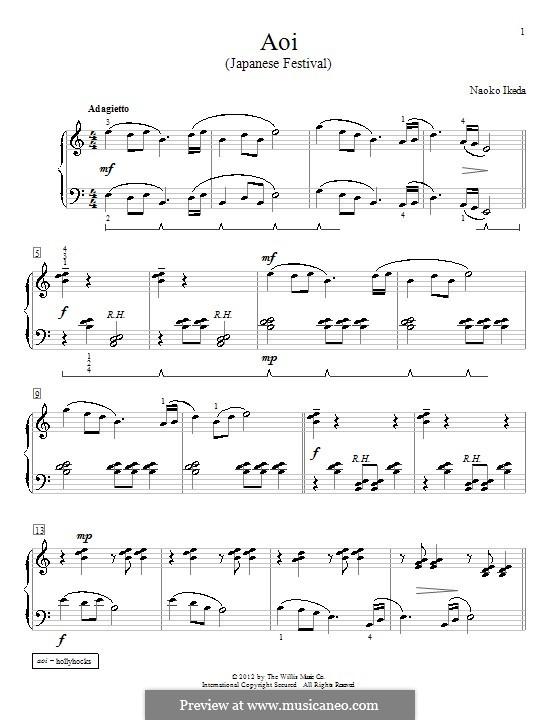 Aoi (Japanese Festival): Für Klavier by Naoko Ikeda