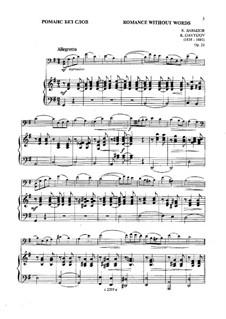 Romanze ohne Worte, Op.23: Partitur, Solostimme by Karl Dawidow