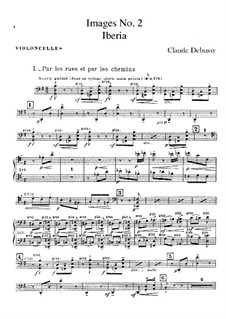 Set III, No.2 Iberia, L.122: Cellosstimme by Claude Debussy