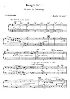 Set III, No.3 Rondes du printemps, L.122: Cellosstimme by Claude Debussy