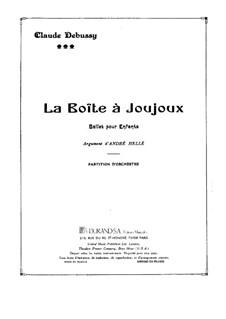 La boîte à joujoux (The Toybox), L.128: Vollpartitur by Claude Debussy