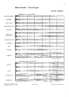 Berceuse héroïque, L.132: Für Orchester by Claude Debussy
