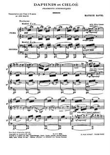 Daphnis und Chloe. Suite Nr.1, M.57a: Für Klavier, vierhändig by Maurice Ravel