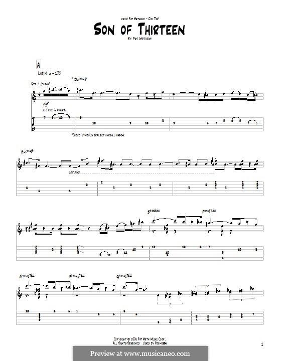 Son of Thirteen: Für Gitarre by Pat Metheny