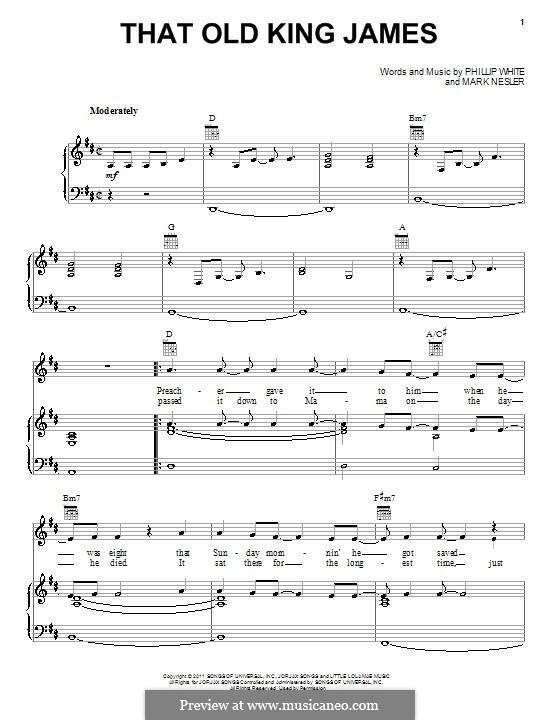 That Old King James: Für Stimme und Klavier (oder Gitarre) by Mark Nesler, Phillip 'Whitey' White