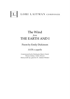 The Earth and I: The Wind (Song 3) priced for one copy by Lori Laitman