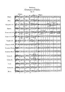 Ouvertüre: Partitur by Ludwig van Beethoven