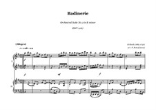 Orchestersuite Nr.2 in h-Moll, BWV 1067: Badinerier. Version for piano four hands by Johann Sebastian Bach