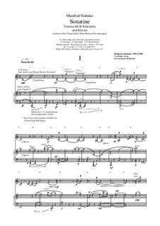 Sonatine (clarinet, piano): Sonatine (clarinet, piano) by Manfred Stahnke