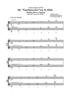 Die Vogelmenschen von Sankt Kilda (2 Bohlen-Pierce-Clarinets): Die Vogelmenschen von Sankt Kilda (2 Bohlen-Pierce-Clarinets) by Manfred Stahnke