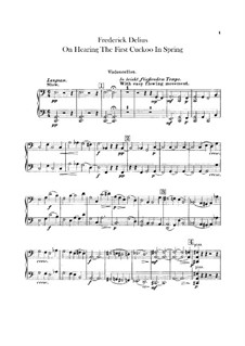 On Hearing the First Cuckoo in Spring: Cellosstimme by Frederick Delius