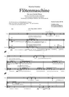 Flötenmaschine (2 flute or 1 flute + prerecorded flute): Flötenmaschine (2 flute or 1 flute + prerecorded flute) by Manfred Stahnke