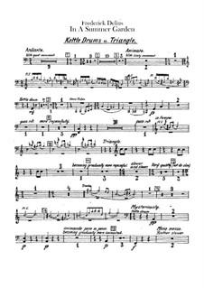 In einem Sommergarten: Schlagzeugstimmen by Frederick Delius