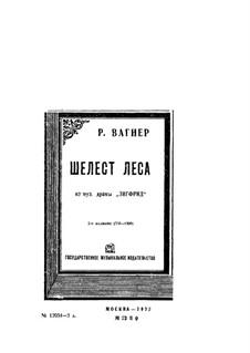 Siegfried, WWV 86c: Waldesrauschen by Richard Wagner