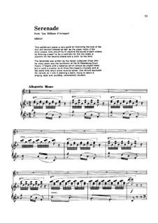 Les millions d'Arlequin: Serenade, für Flöte und Klavier by Riccardo Drigo