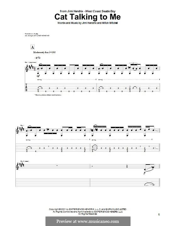Cat Talking to Me: Für Gitarre by Mitch Mitchell
