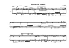 Etude No.1 for the piano for the left hand, MVWV 675: Etude No.1 for the piano for the left hand by Maurice Verheul