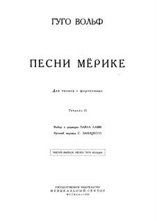 Mörike Lieder: Buch II by Hugo Wolf