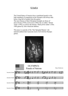 Olympics – Parade of Nations: U.S of A by Shaun Henderson
