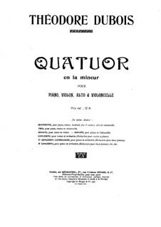 Klavierquartett in a-Moll: Vollpartitur by Théodore Dubois