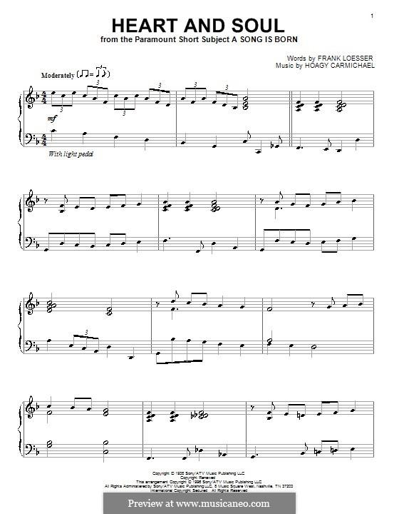Heart and Soul: Für Klavier by Hoagy Carmichael