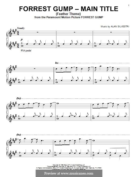Forrest Gump Suite (Theme): Für Klavier by Alan Silvestri