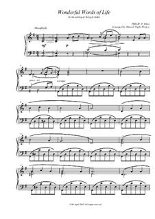 Wonderful Words of Life: Für Klavier by Philip Paul Bliss