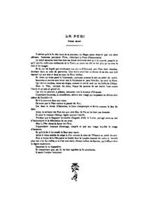 La Péri: Vollpartitur by Paul Dukas