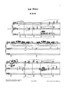 La Péri: Für Klavier by Paul Dukas