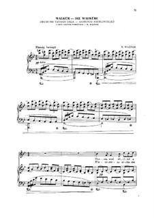 Die Walküre, WWV 86b: Akt II, Szene III Sigmund Frühlingslied, für Stimme und Klavier by Richard Wagner