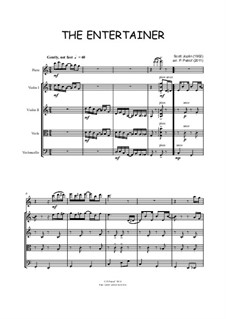 The Entertainer: For flute, violin, viola and cello by Scott Joplin