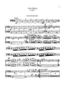 La Péri: Cellosstimme by Paul Dukas