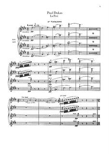La Péri: Violinstimme I by Paul Dukas